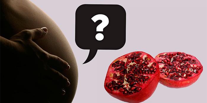 Полезные свойства граната для беременных женщин
