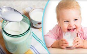 Кефир для ребенка-грудничка
