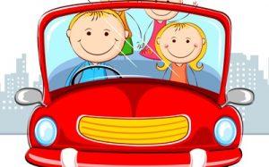 В путешествие на машине с детьми