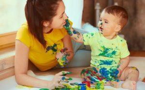 Рисуем пальцами вместе с малышом: выбор красок и техника